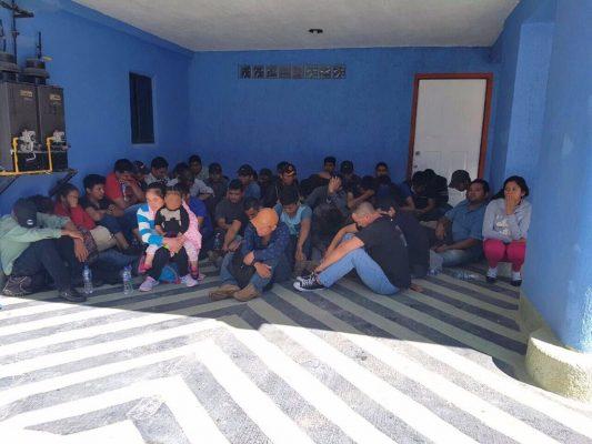 Detienen a 70 indocumentados en Teoloyucan