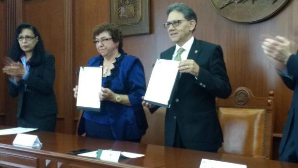 Firmaron convenio de colaboración UAEM-ININ