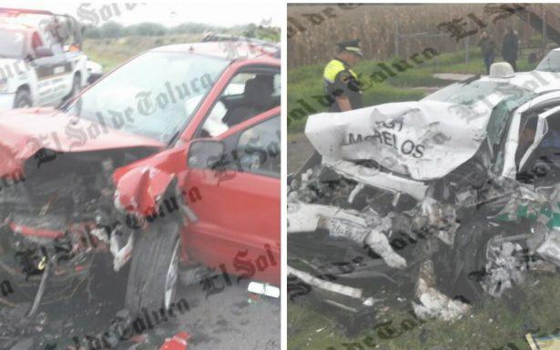 Fatal accidente en Ixtlahuaca; dos personas pierden la vida