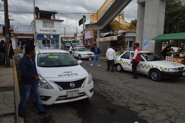 Suben tarifa taxis colectivos de Tenango
