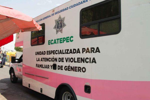 Unidades móviles de Atención a Víctimas de Violencia han atendido a mil 600 personas en Ecatepec