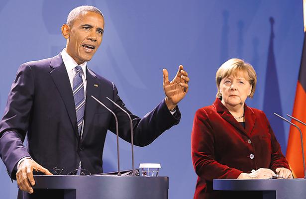 Llama el presidente Obama a Angela Merkel líder del mundo libre