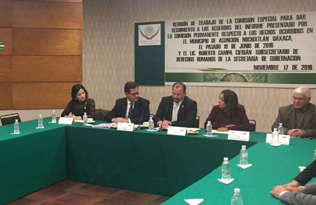 Roberto Campa comparece ante diputados que siguen caso Nochixtlán
