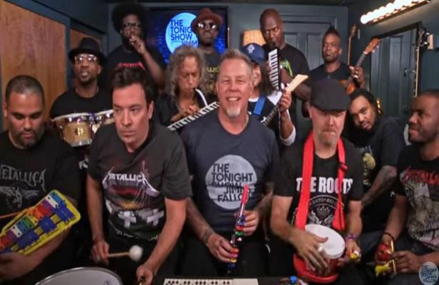 Jimmy Fallon y Metallica tocan 'Enter Sandman' con ¡juguetes!