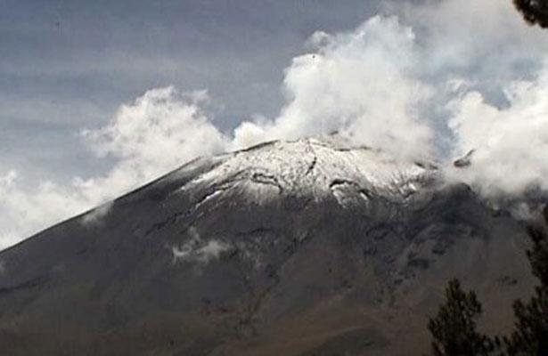Volcán Popocatépetl emite 256 exhalaciones baja actividad