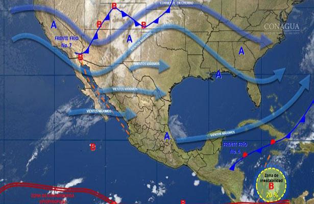 Nuevo sistema frontal ocasionará más frío y lluvias en el país
