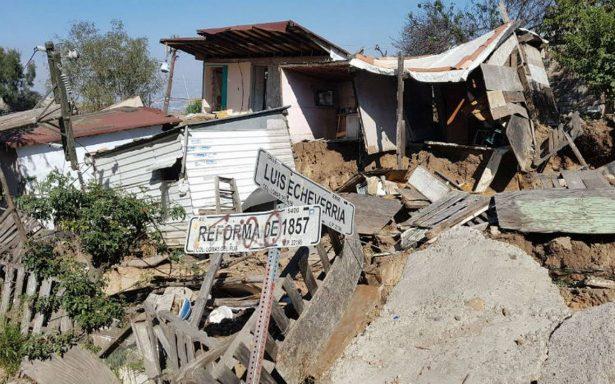 Ya son cerca de 150 casas afectadas por derrumbes en Tijuana