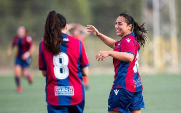 ¡Fenómeno en España! Charlyn Corral anota y es máxima goleadora