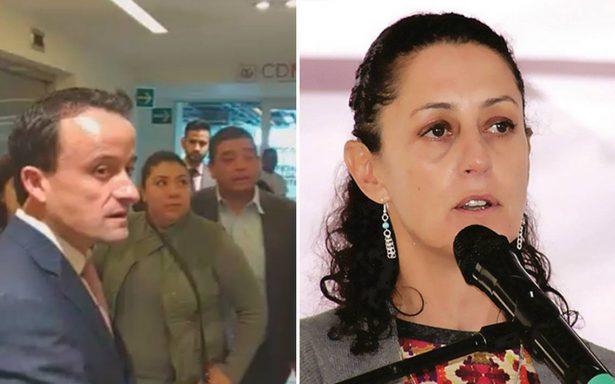 Junto a vecinos de Tlalpan, Mikel Arriola denuncia a Claudia Sheinbaum