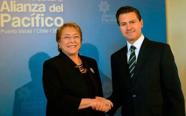 Peña Nieto agradece a Michelle Bachelet por cuatro años de trabajo conjunto