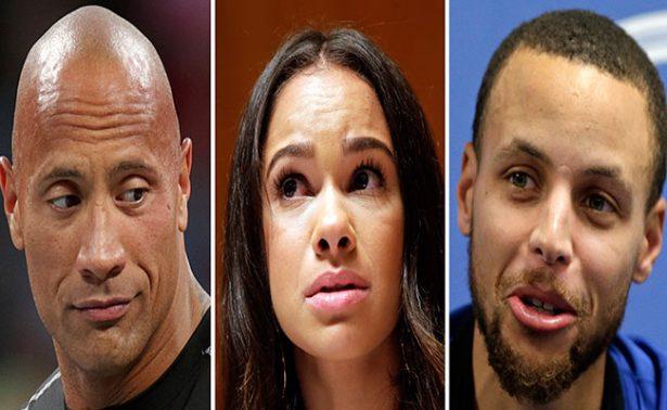 La Roca y Stephen Curry critican a marca deportiva por elogiar a Trump