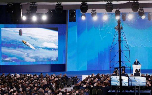 """""""Nadie en el mundo tiene algo igual""""; Putin presenta un misil balístico Sarmat"""