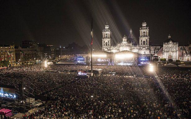 Concierto en el Zócalo capitalino logró una gran convocatoria