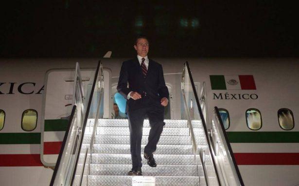 Peña Nieto llega a Nueva York para asistir a la Asamblea General de la ONU