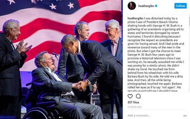 George Bush padre acusado por manosear a actriz