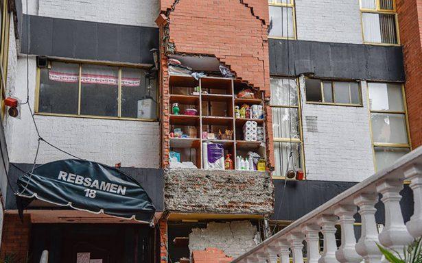 Inician la demolición de edificios dañados por sismo 19:S