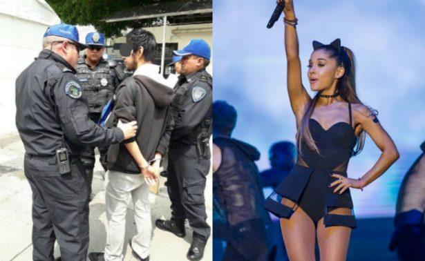 Joven intenta entrar a concierto de Ariana Grande con un cuchillo