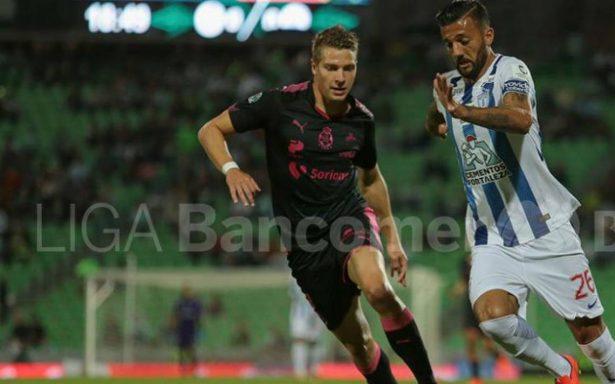 Santos viene de atrás y empata contra Pachuca