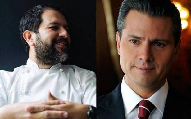 Lo importante, los niños migrantes: así responde chef a la felicitación que le dio EPN
