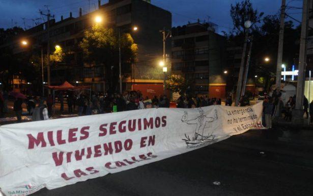 Damnificados del 19S aprueban plantón indefinido sobre Calzada de Tlalpan