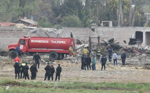 Explosión en polvorín deja un muerto y dos heridos en Tultepec