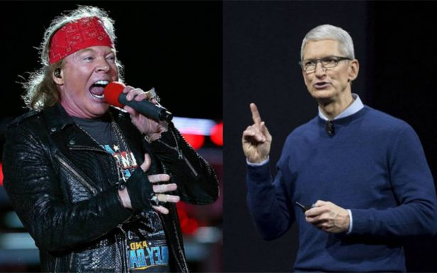 Axl Rose critica al director de Apple y lo compara con Trump