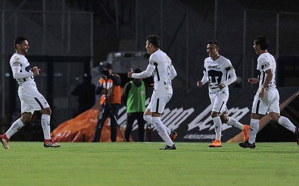 Pumas rugió ante Lobos en la Copa MX