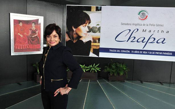 Exhibe Martha Chapa arte y filantropía