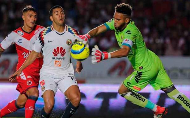 Con gol de último minuto América salva la derrota 1-1 ante Veracruz