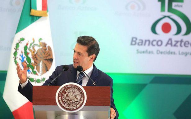 Bansefi ha bancarizado a 34 mil personas afectadas por sismos, destaca EPN