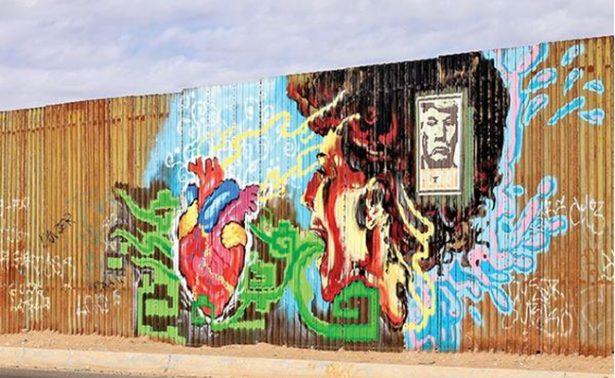 Lienzo de metal: Arte en muro que divide a Estados Unidos y México