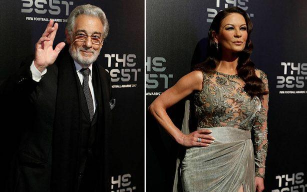 [En Vivo] Plácido Domingo y Catherine Zeta-Jones invitados VIP en gala 'The Best' de la FIFA