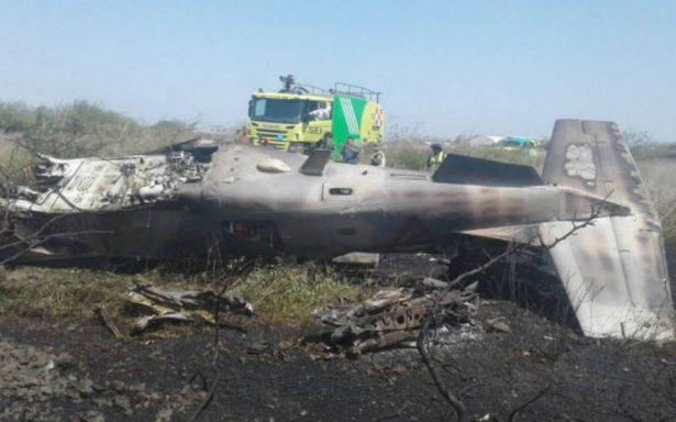 Sedena reporta accidente aéreo en Oaxaca; tripulación con lesiones leves