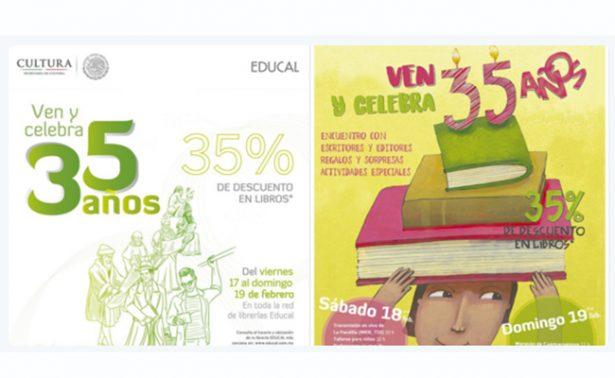 Celebra Educal sus 35 años con actividades especiales, descuentos y ¡muchos libros!