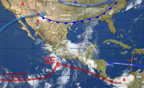 Depresión tropical Cuatro-E se intensifica a tormenta tropical Dora
