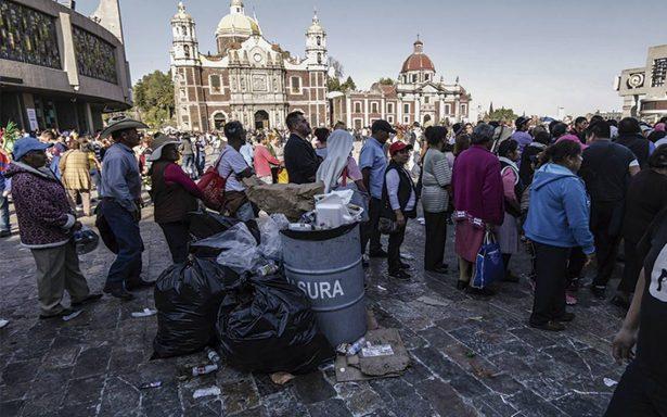 Bajas temperaturas y sismos, generan poca afluencia en la Basílica