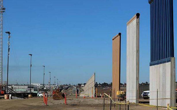 Presentan oficialmente los 8 prototipos del muro fronterizo