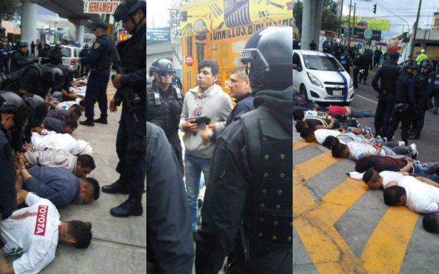 Balacera en Avenida Tláhuac deja dos muertos y 24 detenidos