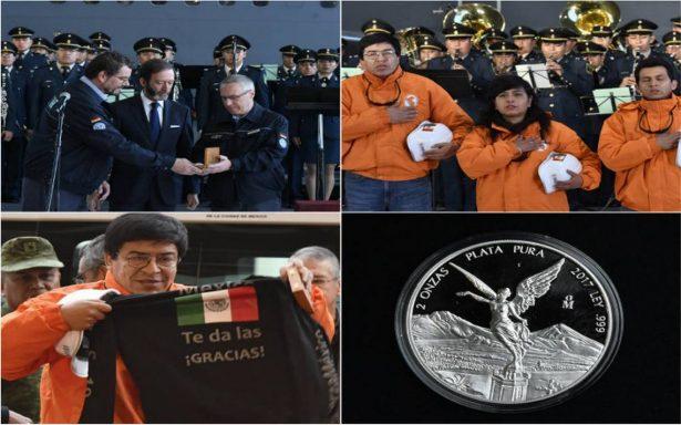 México despide a rescatistas de Alemania y Perú que apoyaron en derrumbes