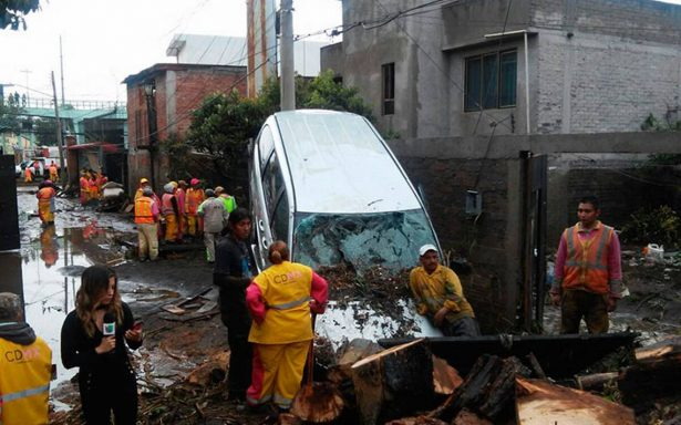 Intensas lluvias al sur de la CDMX dejan 400 viviendas dañadas