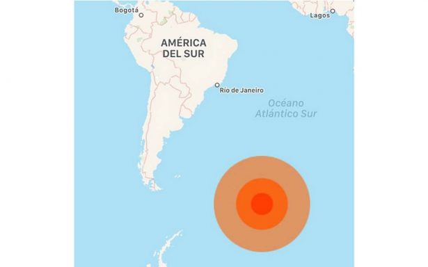 Registran sismo de 6.1 al sureste de Argentina, en las Islas Sandwich
