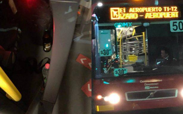 Cesan a chofer de Metrobús por ingerir cerveza mientras conducía