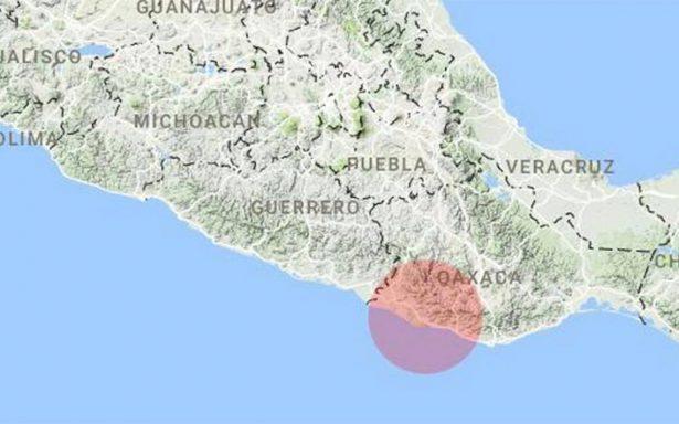 Se registra sismo de magnitud 4.0 en Salina Cruz, Oaxaca