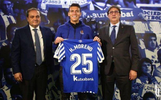 Presentan oficialmente a Héctor Moreno en la Real Sociedad