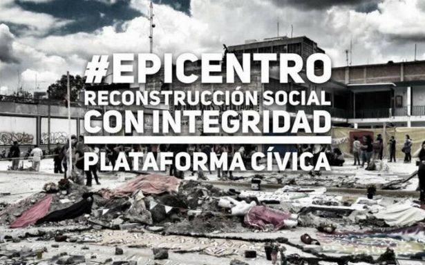 Con #Epicentro sociedad vigilará destino de donaciones para reconstrucción