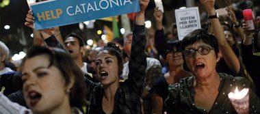 Exigen manifestantes en Barcelona liberación de líderes separatistas