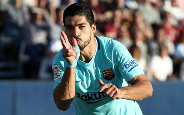 Suárez rompe sequía con doblete y el Barcelona gana 3-0 al Leganés