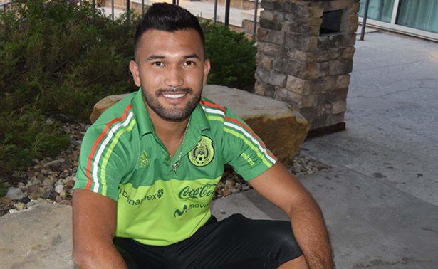 Hegardo y su primer gol con el tricolor