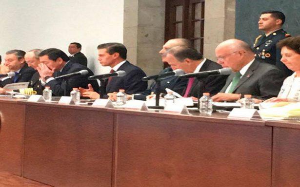 Peña Nieto comparte a periodistas el balance de daños tras sismos