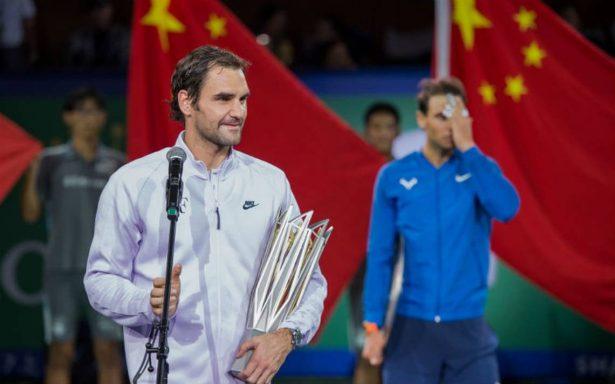 Con victoria de Federer, peligra el liderato de Nadal en la ATP